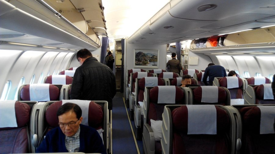 China Airlines Business class A330 HKG-TPE, 03.jpg
