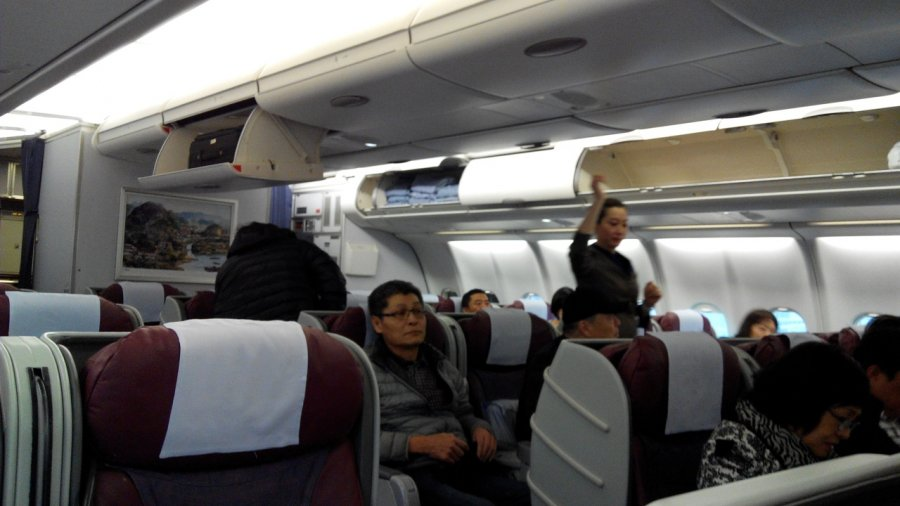 China Airlines Business class A330 HKG-TPE, 04.jpg