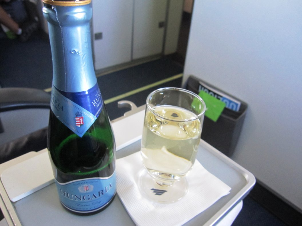 Mousserande vin i Malev Business Class