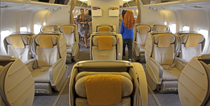 Asiana BusinessClass on Boeing 767