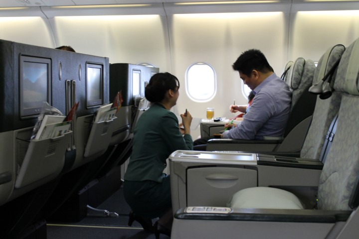 Eva Air Business Class Taipei-Hong Kong