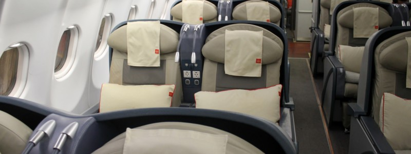 Royal Jordanians business class kabin på Airbus A330
