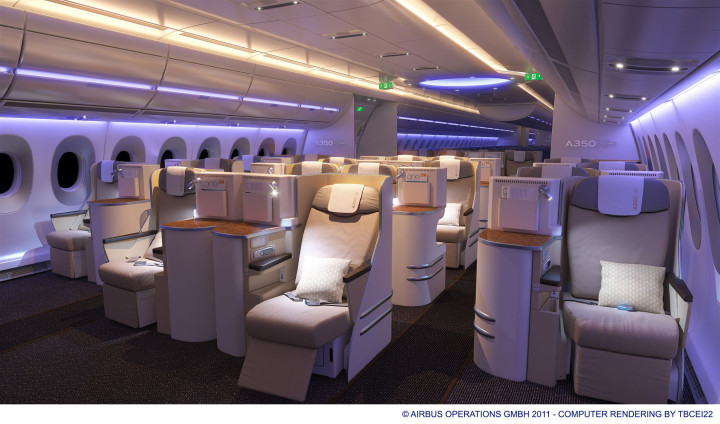 A350 XWB cabin night