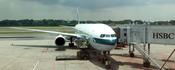 Cathay Pacific Business Class Airbus A330 in Bangkok