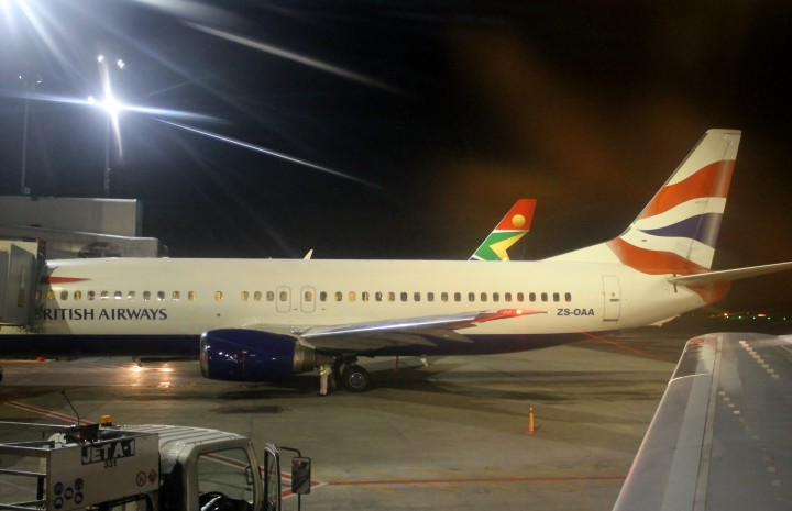 British Airways Economy Class Boeing 737 Johannesburg-Cape Town