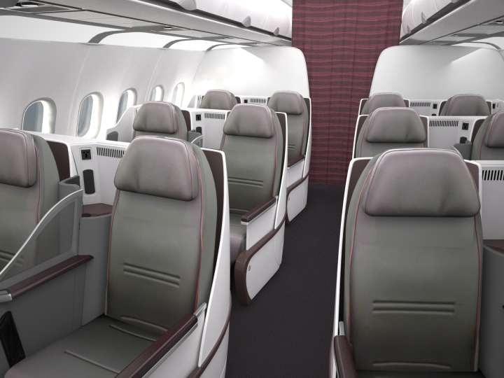 Qatar Airways All-business Airbus A319
