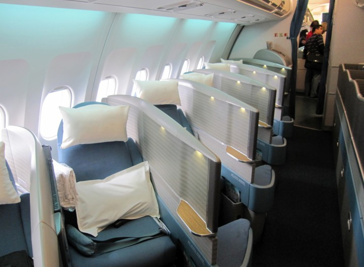 Cathay Pacific Business Class cabin Airbus A340