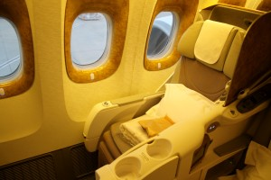 Emirates Business Class seat Boeing 777