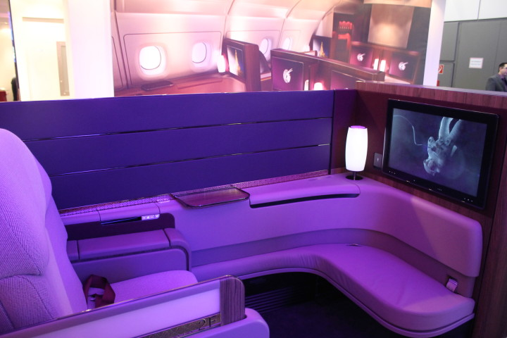 Qatar Airways nya First Class-stol