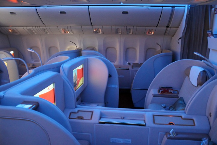 Air India First Class cabin Boeing 777
