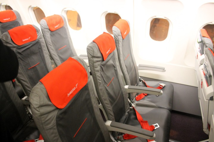 Austrian Airlines Economy Class Cabin Airbus A320