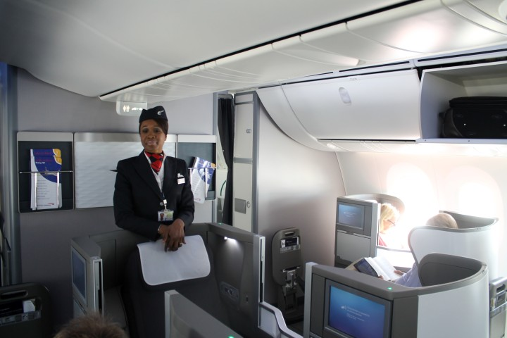British Airways Business Class Club World Cabin Boeing 787 Dreamliner