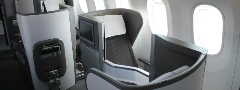 British Airways Business Class Club World Seat Boeing 787 Dreamliner