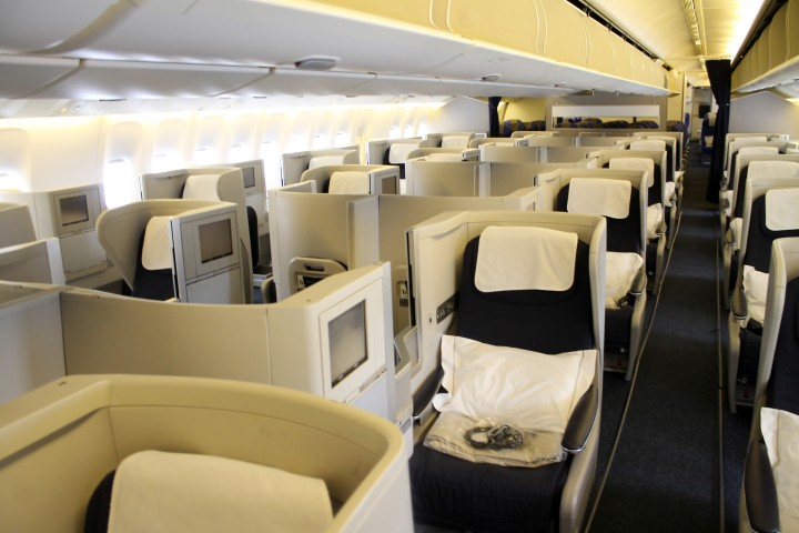 British Airways Business Class Club World cabin Boeing 777