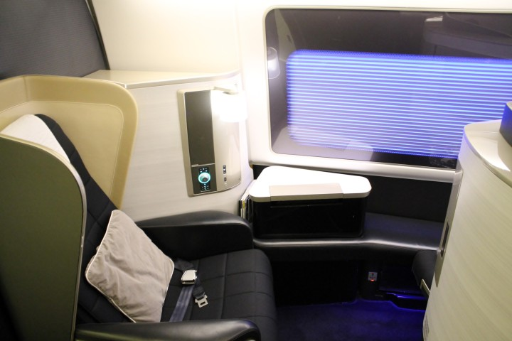 British Airways First Class seat Boeing 777