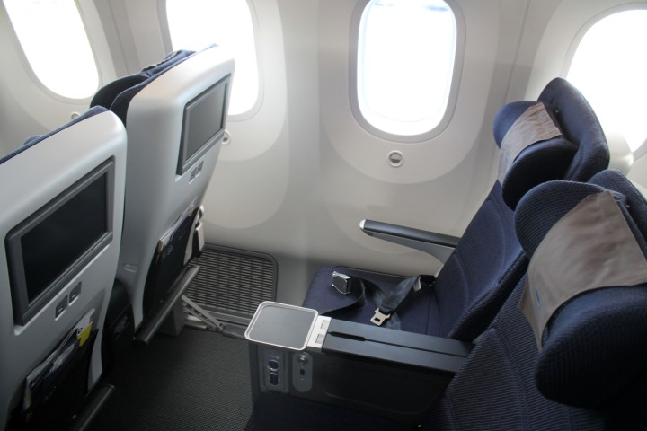 British Airways Premium Economy World Traveller Plus seat Boeing 787 Dreamliner