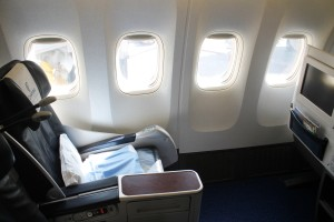 Egyptair Business Class seat Boeing 777
