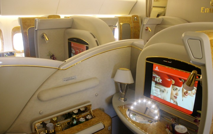 Emirates First Class cabin Boeing 777