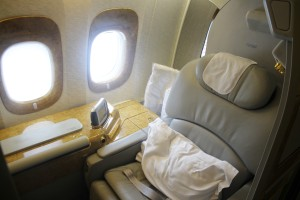 Emirates First Class seat Boeing 777