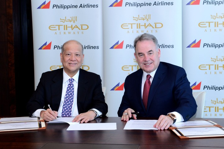 Etihad and Philippine Airlines memorandum of understanding