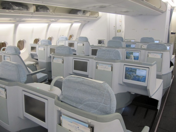 Finnair Business Class cabin Airbus A330