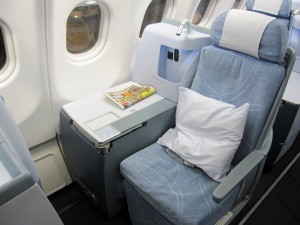 Finnair Business Class seat Airbus A330