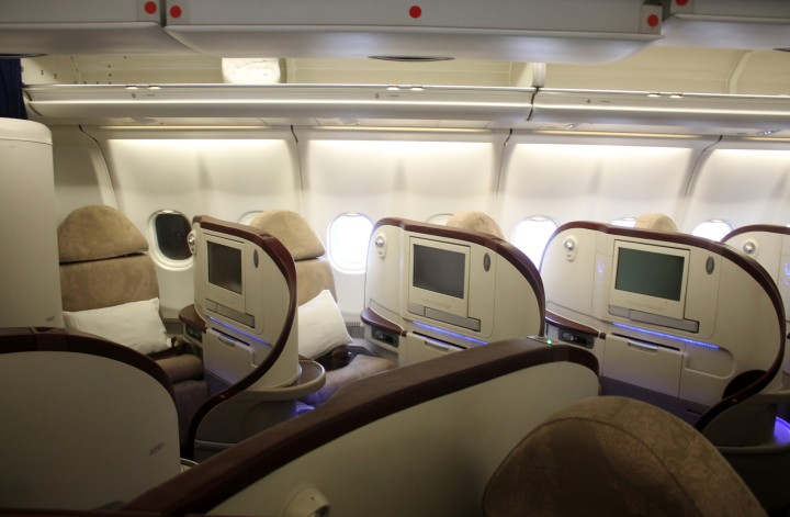Jet Airways Business Class Première cabin Airbus A330