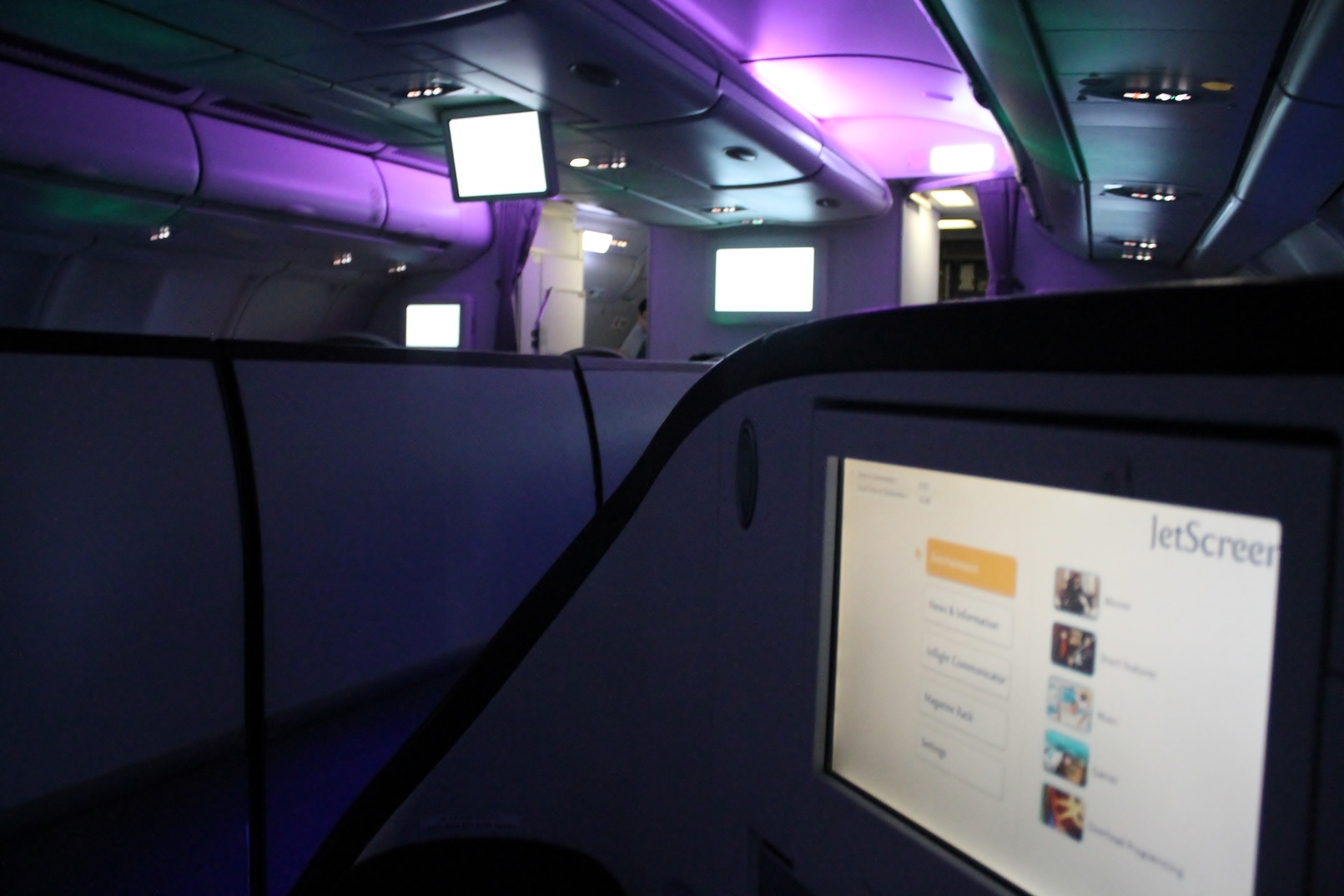 Bilder från Jet Airways Business Class Singapore-Mumbai
