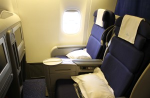 KLM Business Class seat Boeing 777