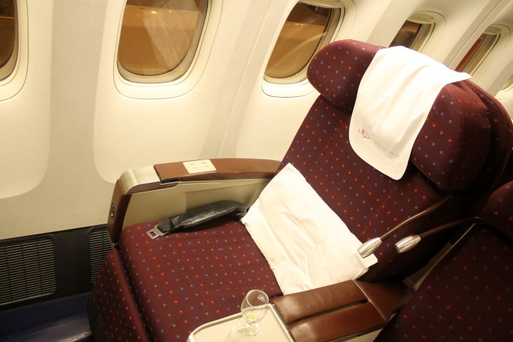 Kenya Airways Business Class seat Boeing 777