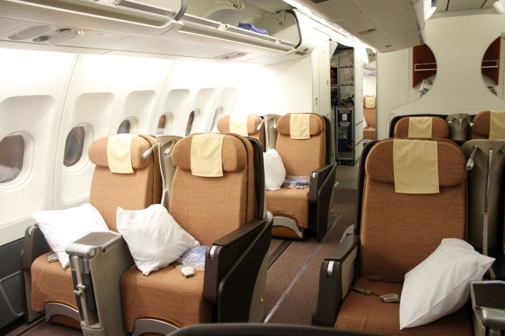 Philippine Airlines Business Class Mabuhay Class cabin Airbus A340