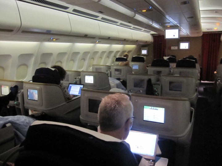 SAS Business Class cabin Airbus A330