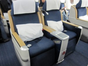 SAS Business Class seat Airbus A330