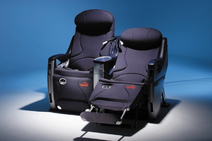 SAS Privatair business class seat