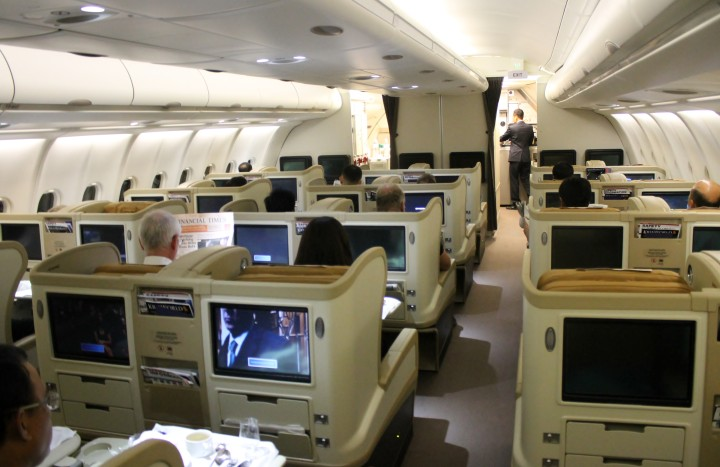 Singapore Airlines Business Class cabin Regional Airbus A330