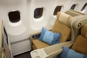 Singapore Airlines Business Class seat Regional Airbus A330