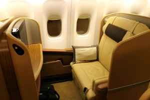 Singapore Airlines First Class seat Boeing 777