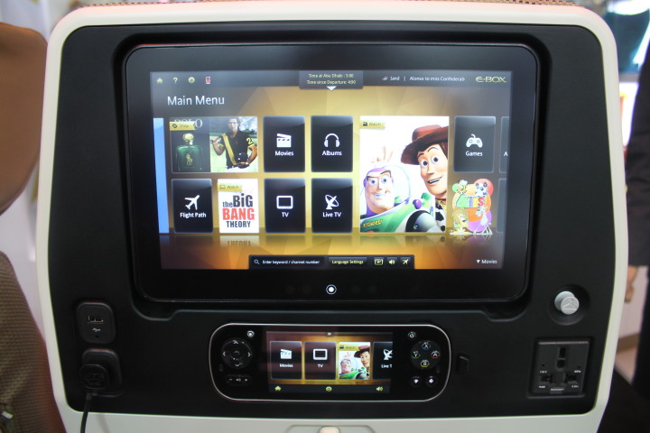 Etihad Economy Smart screen