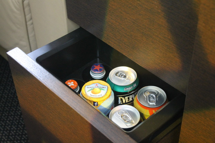 Etihad First Apartment minibar