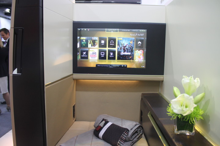Etihad First Suite screen