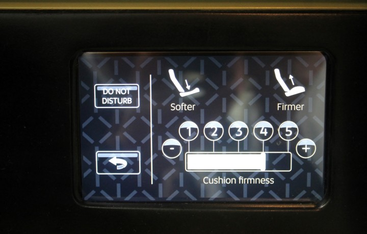 Etihad First Suite seat control