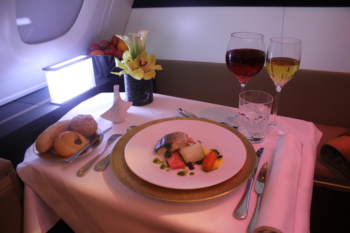 Etihad The Residence food