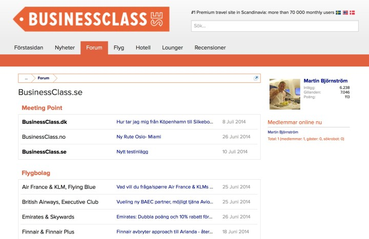 BusinessClass beta forum