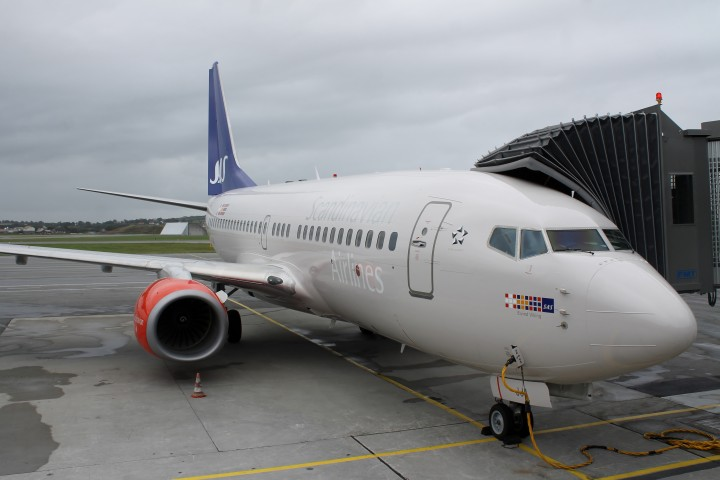 SAS Privatair Boeing 737 Stavanger-Houston invigning