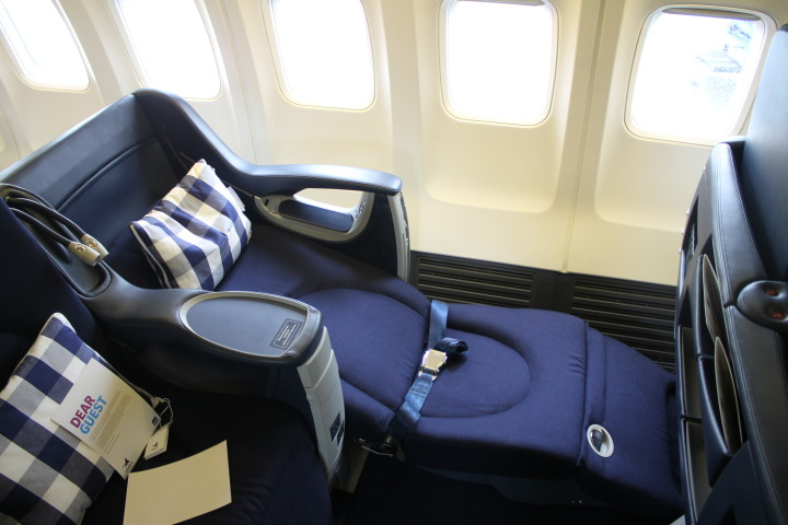 SAS Privatair Boeing 737 the seat reclined