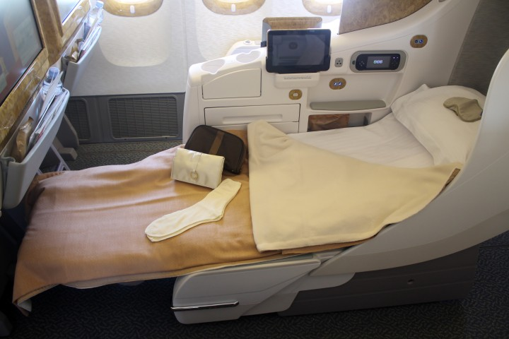 Emirates business class Boeing 777 Oslo-Dubai