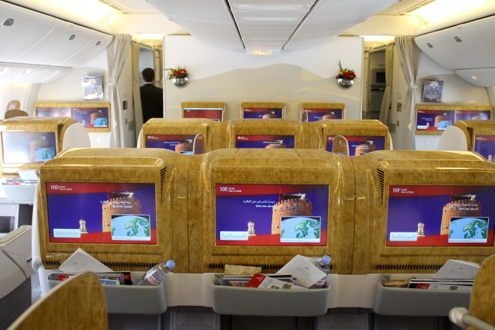 Emirates Business Class stol Boeing 777