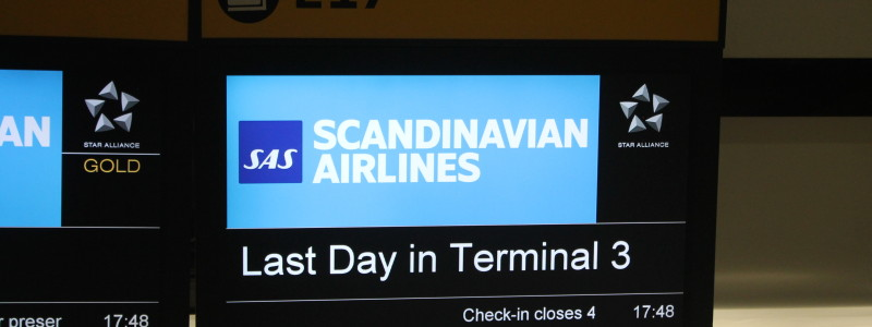 Sista dagen för SAS på London Heathrow Terminal 3