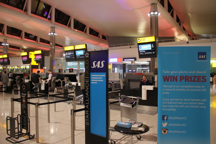 SAS invigningsceremoni London Heathrow terminal 2