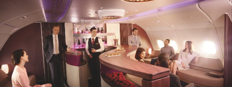 Qatar Airways Airbus A380 First Class & Business Class Lounge
